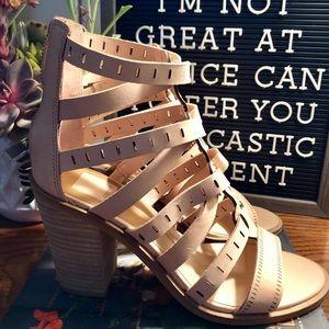 Dolce vita gladiator stacked heel